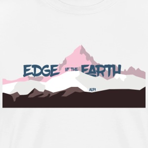 The_Edge_of_the_Earth - Mannen Premium T-shirt
