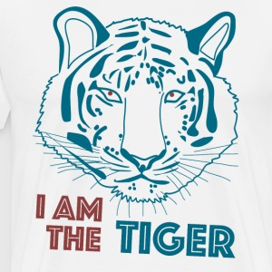 Tiger in blau - Männer Premium T-Shirt