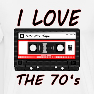 I Love The 70's T-Shirt Shirt - Männer Premium T-Shirt