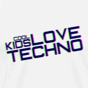 Cool kids love techno - Mannen Premium T-shirt