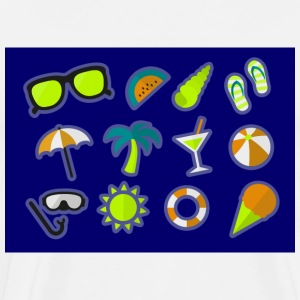 Summer Beach T Shirt Gafas de sol Sun Ball