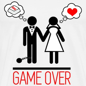 Game over - Par - Bachelor - Premium-T-shirt herr