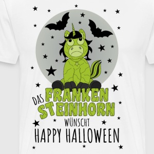 The Frankensteinhorn wishes Happy Halloween schw - Men's Premium T-Shirt