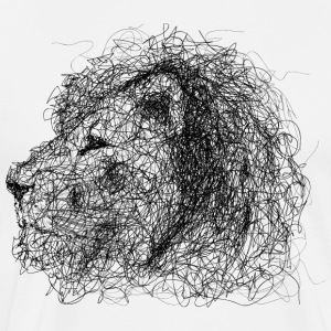 Lion Scribble - Premium-T-shirt herr