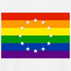 LGBTI + Flag for Europe - Men's Premium T-Shirt