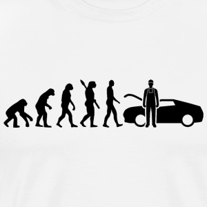 Evolution Mechaniker Mechanikerin Black - Männer Premium T-Shirt