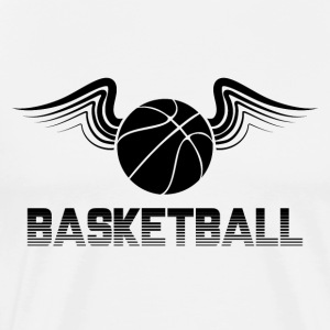 Basketbal Wings Balsporten bal basketbal dunk - Mannen Premium T-shirt