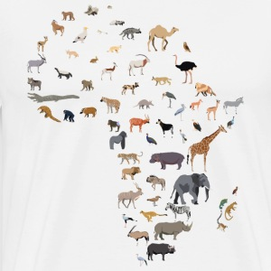 Map of African wildlife - Men's Premium T-Shirt