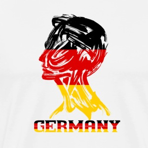 FOOTBALL | Germany color head - Men's Premium T-Shirt