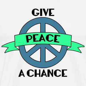 Hippie / Hippies: Give Peace A Chance - Premium T-skjorte for menn