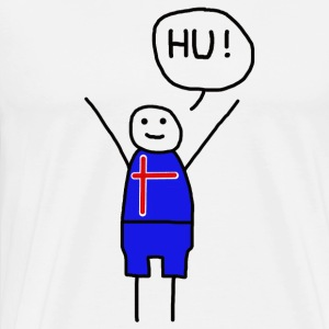 Island of Hu! - Huh Island - Football Fan - Men's Premium T-Shirt