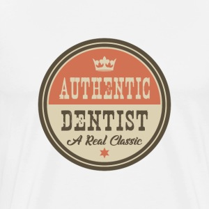 AUTHENTIC Tandläkare - DENTAL - Premium-T-shirt herr