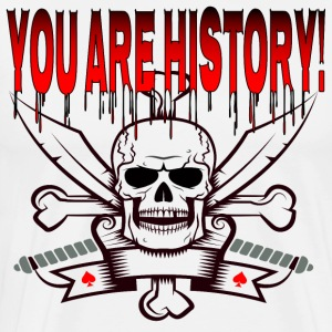 Hallowen, skull with knife says: You are history! - Men's Premium T-Shirt