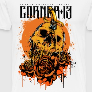ORANGE SKULL & ROSES - T-shirt Premium Homme
