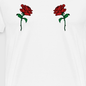 Rose Boobs Design - Trendy Rosen Brüste - Männer Premium T-Shirt