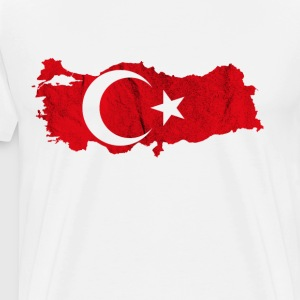 Turkey Türkiye Turks Istanbul Map flag TR - Men's Premium T-Shirt