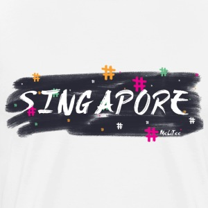 Singapore # 1 - Premium T-skjorte for menn