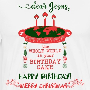 JESUS ​​BIRTHDAY CAKE MERRY CHRISTMAS - Premium T-skjorte for menn