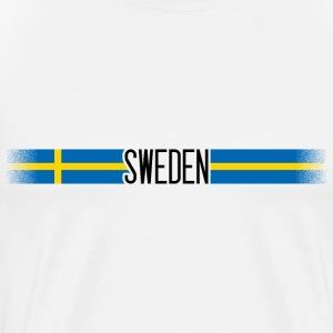 Sweden flag / banner 005 AllroundDesigns - Men's Premium T-Shirt