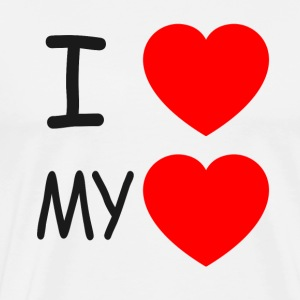 I love my heart - Men's Premium T-Shirt