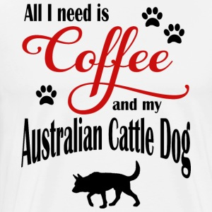 Australia Cattle Dog Coffee - Men's Premium T-Shirt