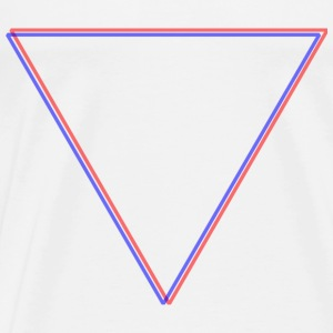 Triangle Red&Blue - T-shirt Premium Homme