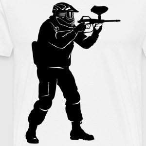 paintball - Premium T-skjorte for menn