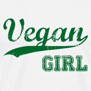 Vegan Girl Gift Idea Birthday T-Shirt Love - Men's Premium T-Shirt