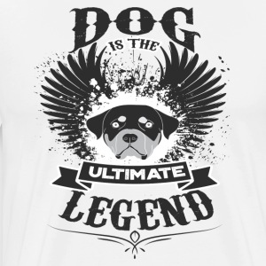 Dog THE LEGEND - Premium T-skjorte for menn