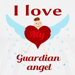 I love my guardian angel - Men's Premium T-Shirt