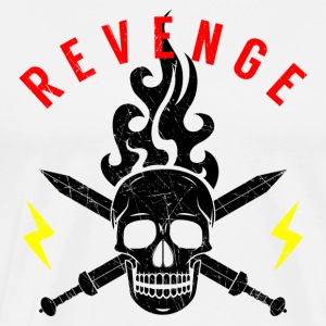 Death Head Swords Flashes Flame Revenge Rocker - Men's Premium T-Shirt