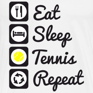 Eat,sleep,tennis,repeat - T-shirt Premium Homme