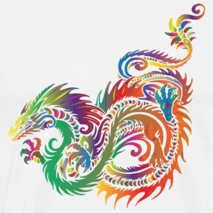 tribal dragon - Herre premium T-shirt