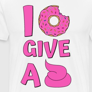 Donut Spruch I Donut Give A Shit Pink - Männer Premium T-Shirt
