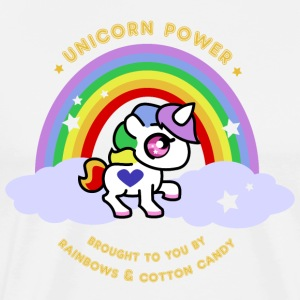 Unicorn Power - By Rainbows and Cotton Candy - Premium-T-shirt herr