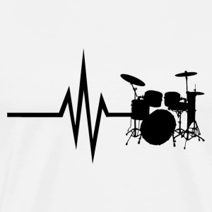 My heart beats for drums - Men's Premium T-Shirt