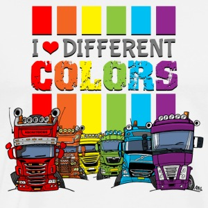 i love 6 different colors trucks - Mannen Premium T-shirt