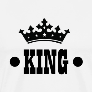KING T-shirt - Mannen Premium T-shirt