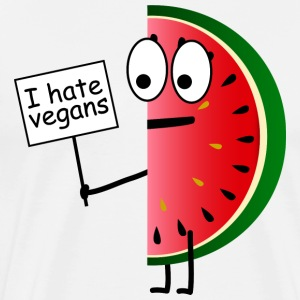 I hate vegans - melon fruit - Männer Premium T-Shirt