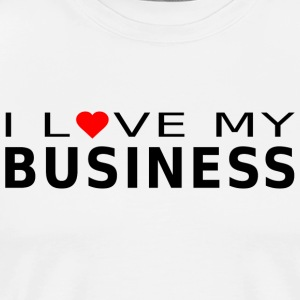 ILoveMyBusiness - Premium T-skjorte for menn