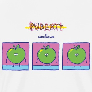 puberty comic - Men's Premium T-Shirt