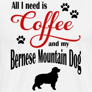 Bernese Mountain Dog Coffee - Men's Premium T-Shirt
