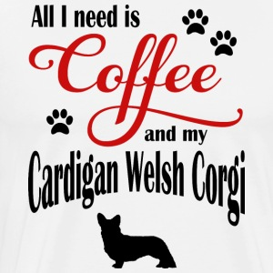 Cardigan Welsh Corgi Coffee - Men's Premium T-Shirt