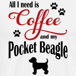 Pocket Beagle Coffee - Men's Premium T-Shirt