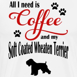 Soft Coated Wheaten Terrier Coffee - Männer Premium T-Shirt