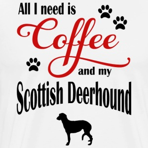 Scottish Deerhound Coffee - Männer Premium T-Shirt
