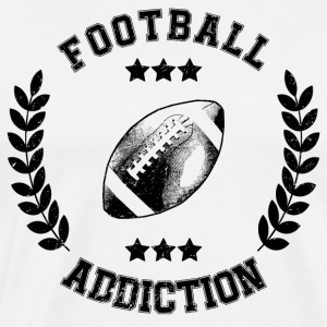 Football Addiction - Verslaving Balsporten USA - Mannen Premium T-shirt