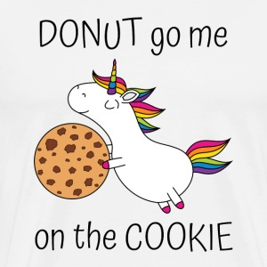 Unicorn Donut Ga Me On De cookie met cookie - Mannen Premium T-shirt
