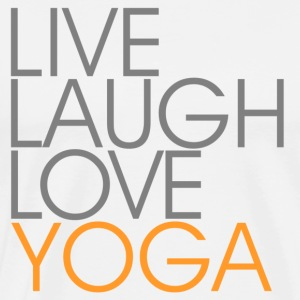 Live Laugh Kærlighed YOGA - grå / orange - Herre premium T-shirt