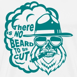 tete mort hipster citation beard cut barbe cigar m - T-shirt Premium Homme